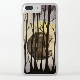 The Forest at Night Clear iPhone Case