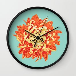 Chrysanthemum (Part of a Triptych) Wall Clock