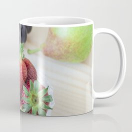 Fresh fruits. Healthy food. Mixed fruits are grapes, pears, peaches, strawberries. eat, diet, like f Coffee Mug