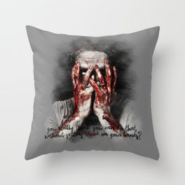 Rick Grimes from The Walking Dead Throw Pillow