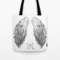 wings Tote Bags featuring wings by Julia