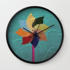 Toy Windmill Wall Clock