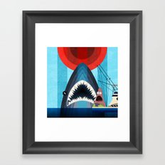 Gonna need a bigger boat Framed Art Print