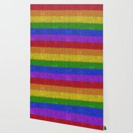 Rainbow Glitter Gradient Wallpaper
