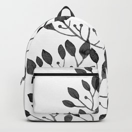 black sprig drawn in ink Backpack
