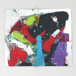 Tic Modern Painting Throw Blanket