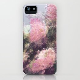 Wild Roses in Motion - Glitch iPhone Case