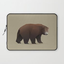 Geometric Bear - Modern Animal Art Laptop Sleeve