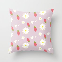 Wolfberry Chamomile  Throw Pillow
