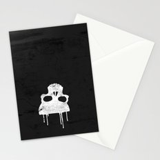 GRUNGE BACKGROUND WITH SKULL Stationery Cards