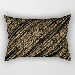 Black Leopard/Cheetah Print Rectangular Pillow