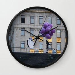 Purple balloon Wall Clock