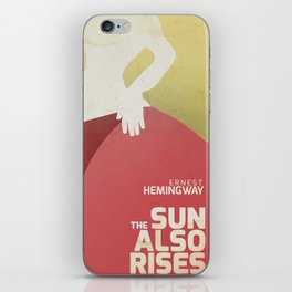 The sun also rises, Fiesta, Ernest Hemingway, classic book cover iPhone Skin