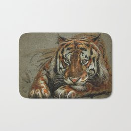 Tiger background Bath Mat