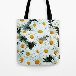 Daisies explode into flower Tote Bag
