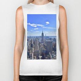 City skyline and Empire State Building Biker Tank