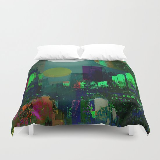 Electric city Duvet Cover