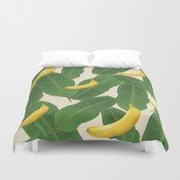 banana Duvet Covers featuring banana by aisyrahma