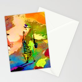 jardin multicolore Stationery Cards