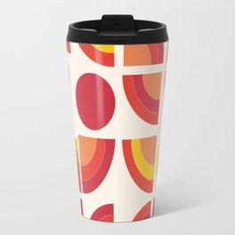 Boogie - abstract retro minimalist 70s 1970s style pattern art 70's 1970's Travel Mug