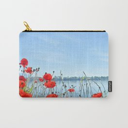 Red poppies in the lakeshore Carry-All Pouch