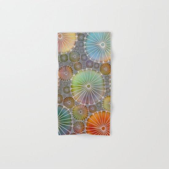 Abstract Floral Circles 4 Hand & Bath Towel