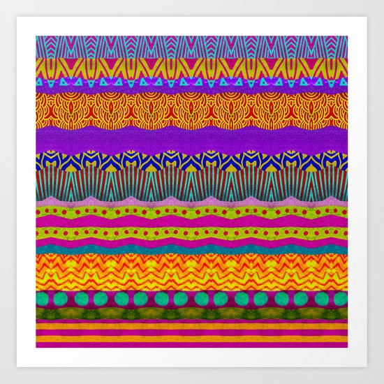 Earth Layers Art Print