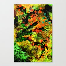 Abstract Art with flowers Canvas Print