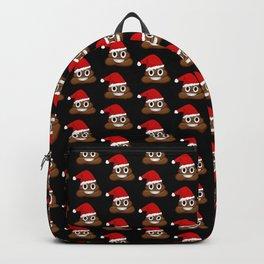 Christmas poop emoji Backpack