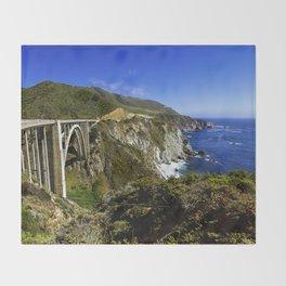 Bixby creek bridge, Big Sur, CA. Throw Blanket