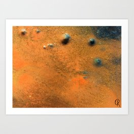 Eternal Well Close Up Photo Original Abstract Painting Art Print