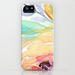 Yellow Roses Watercolor iPhone Case
