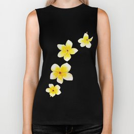 Common Frangipani watercolor Biker Tank