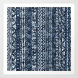 Mud Cloth Stripe Art Print