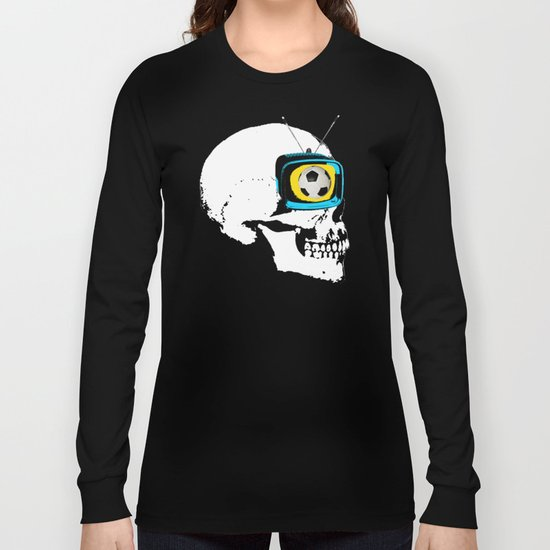 Football Mind - a round thing in the TV eye v4 Long Sleeve T-shirt