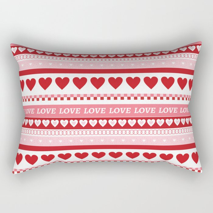 Valentine's Day - Love Pattern Rectangular Pillow