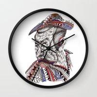 samurai Wall Clocks featuring Samurai  by Geek World