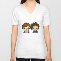 larry stylinson V-neck T-shirts featuring What Makes Larry Beautiful by clevernessofyou