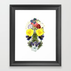 Skull Flowers Framed Art Print