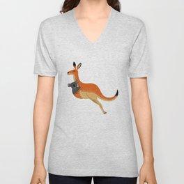 The Kangaroo and The Koala Unisex V-Neck