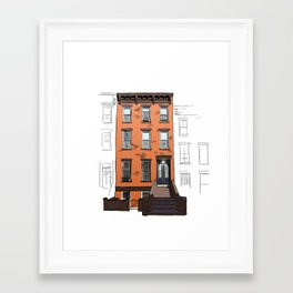 Brooklyn Brownstone Framed Art Print