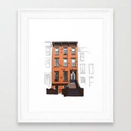 Brooklyn Brownstone Framed Art Print