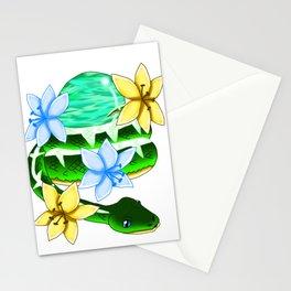 Snake Piece #26 - White Materia Stationery Cards