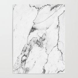 White Marble I Poster