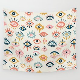 Mystic Eyes – Primary Palette Wall Tapestry