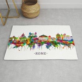 Rome Italy Skyline Rug