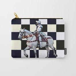 Knight on white horse with Chess board Carry-All Pouch