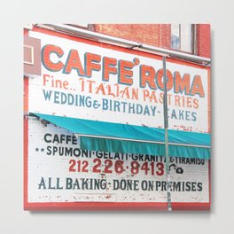 176. Caffé Roma, New York Metal Print