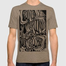 Bouncing Around the Room Mens Fitted Tee Tri-Coffee LARGE