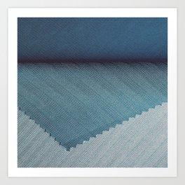 Blue cover Art Print